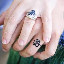 engagement finger rings images Real girl engagement tattoos popsugar fashion jpg