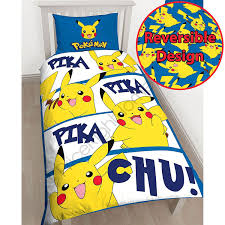 Duvet Covers Kids Amazon Com Pokémon Pikachu Single Us Twin Duvet Cover And