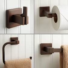 modern bathroom accessory set signature hardware