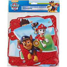 paw patrol birthday party banner party supplies walmart