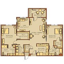 floor plans kendal at lexington two bedroom with den j 1500 sq feet