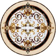 medallions marble inlay waterjet medallions and tile floor