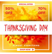 thanksgiving day sale autumn traditional vector image