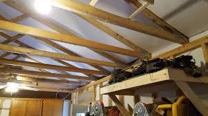 garage truss attic storage weight garage journal board