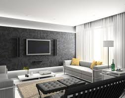 Black And White Modern Rug by Living Room Black Sofas White And Black Nuance Floating Wall