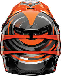 thor helmet motocross off road helmet thor verge vortechs flo orange gray