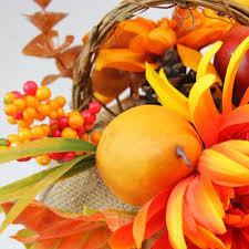9 autumn harvest burlap pumpkin with flowers and fruit