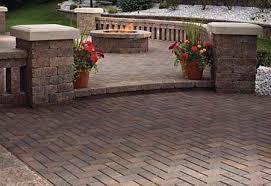 Backyard Brick Patio Design With Grill Station Seating Wall And by Brick Patios Dayton U0026 Cincinnati Schneider U0027s Lawn Care