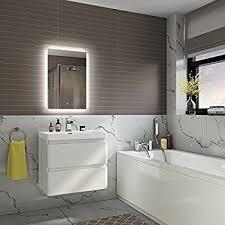 Bathroom Demister Mirror 500 X 700 Mm Illuminated Led Bathroom Mirror Vanity Light Sensor