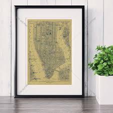 wohnzimmer new york online shop new york city karte leinwand kunstdruck malerei poster