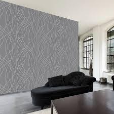 papier peint cuisine gris papier peint salon décoration murale tendance chantemur