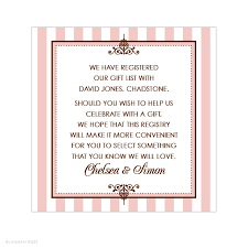 wedding gift message alannah wedding invitations stationery shop online le