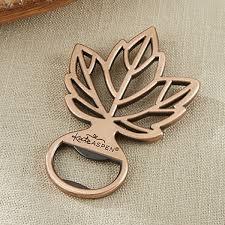 bottle opener favors copper finish fall maple leaf bottle cap opener favors