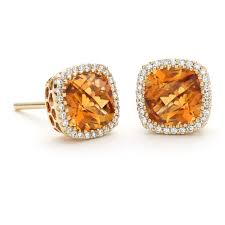 citrine earrings diamond and citrine earrings from jewelry