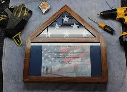 Triangle Flag Case With Certificate Battalion U Memorabilia Battalion 3 5 Flag