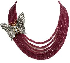 ruby beads necklace images Exclusive big butterfly ruby 7 strands beads necklace gleam jewels jpg
