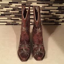 womens brown cowboy boots size 9 68 shyanne shoes womens size 9 shyanne mae cowboy