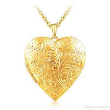 charm necklace wholesale images 2018 wholesale jewelry big heart lockets necklace charm necklace jpg