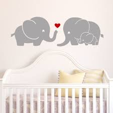 baby nursery wall stickers best decoration decal popular items for home decor large size kids wall stickers wayfair elephant family with red heart decal