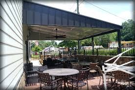 Metal Patio Covers Cost Awning Over Garage Door Wageuzi Metal Gambrel Roof Metal Roof