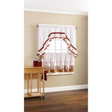mainstays dancing chefs tier and swag valance set walmart com