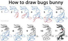 draw bugs bunny step step pictures cool2bkids