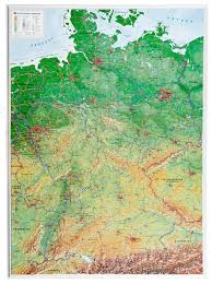 map of deutschland germany 3d relief germany map germany wall maps europe wall maps