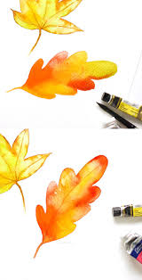 three ways to paint a watercolor fall leaf inkstruck studio