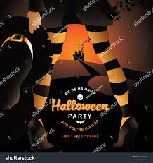 free halloween background eps witch halloween party invitation background with copy space eps 10