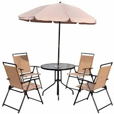 Patio Umbrella Table And Chairs by Outsunny 6pc Patio Umbrella Set Garden Bistro Table Foldable
