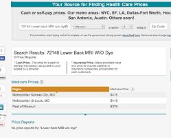 how much does an mri cost in missouri 376 or 1 100 plus