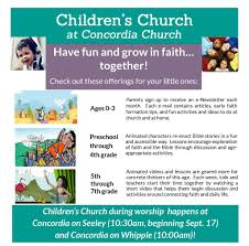 sunday lessons concordia lutheran church chicago