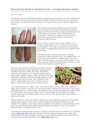 discover the foods to avoid for gout
