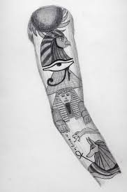 awesome egyptian sleeve tattoo design by bringthekaos on
