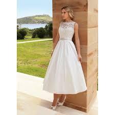 tea length wedding dresses lace and taffeta vintage tea length and boat neckline wedding