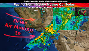 Lightning Strike Map Lightning Hits Los Angeles County Pacific Storm Freddy Moves Out