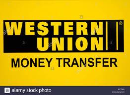Western Union Money Transfer Sign Logo London England Uk Stock Bureau Western Union