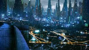 3840x2160 futuristic city skyscrapers cyberpunk