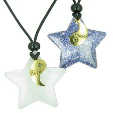 star friendship necklace images Good luck talisman lucky best friends yin yang snowflake crystal jpg
