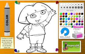 dora coloring book pages dora games free kids games online kidonlinegame com page 2