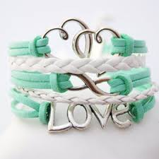 love braid bracelet images 5 strand mint green and white infinity from pure delusions jpg