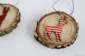 deer wood slice ornaments rustic