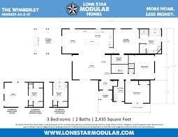 Home Floorplans by The Wimberley Ranch Style Modular Home Floor Plan