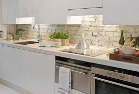 kitchen with brick backsplash kitchen white brick backsplash plus modern kitchen design idea