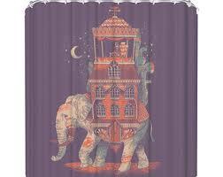 India Shower Curtain Elephant Shower Curtain Indian Bohemian Wilderness