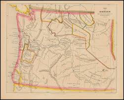 map of oregon map of oregon showing the location of indian tribes 1852 barry