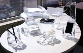 Clear Desk Accessories Acrylic Desks Set Acrylic Desk Accessories Set Clear Acrylic Desk