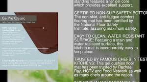 Comfort Mats For Kitchen Gelpro Classic Anti Fatigue Kitchen Comfort Chef Floor Mat 20x72