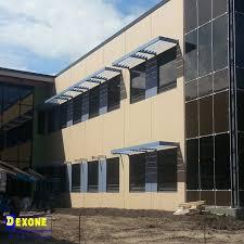 aerofoil architectural facade vertical curtain wall sun louver fixed