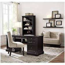 home decorators collection bufford rubbed black desk with storage
